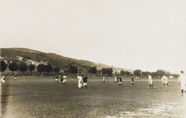 The Cricket & Football Ground set up by British soldiers stationed at Raijak (Raidak), India