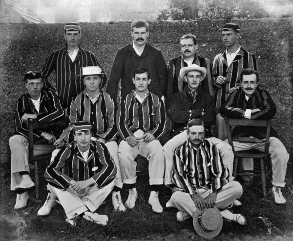 CAMBRIDGE UNIVERSITY H.BROADBENT, A.LAWRENCE, W.LOWE, E.BRAY, F.ANDERSON, B.MIDDLEDITCH, T.N.PERKINS, L.V.LODGE, C.O.SO.HATTON, J.H.MANLY, C.J.BURNUP