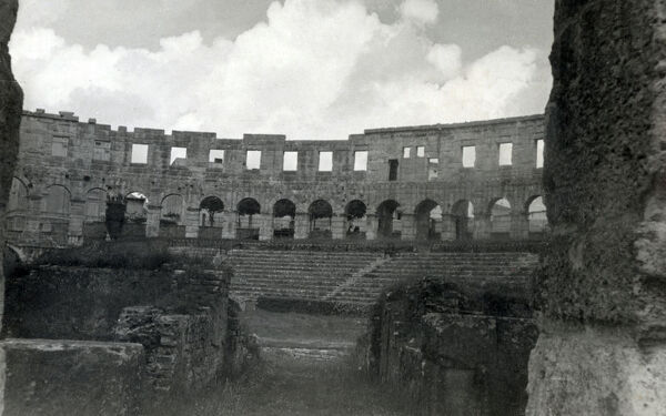 Croatia - Pula - The Roman Amphitheatre. The Arena is the only remaining Roman amphitheatre