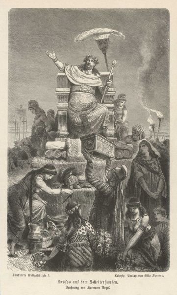 CROESUS KING OF LYDIA Seated amongst his abundant riches