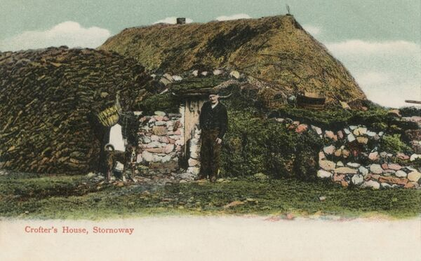 Crofter's House, Stornoway on the Isle of Lewis in the Outer Hebrides, Scotland