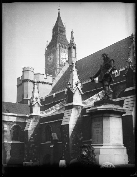 OLIVER CROMWELL His statue outside Westminster Hall, beside the Houses of Parliament, which was sculpted by William Hamo Thornycroft in 1899