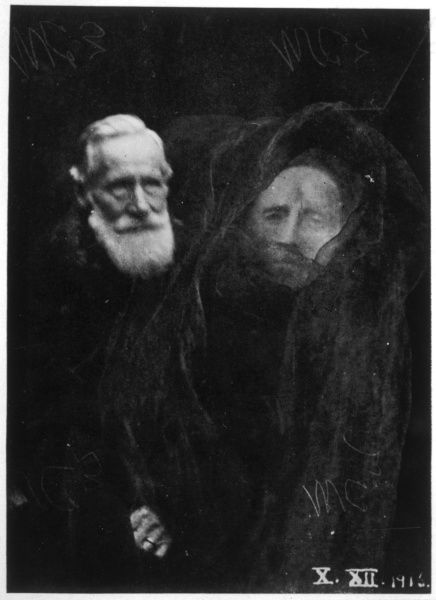Sir William Crookes with the purported image of lady Crookes