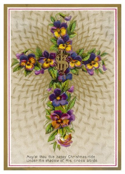 ornamented with pansies
