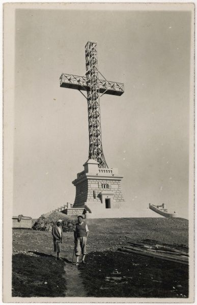 A large cross erected at Sinaia, Romania