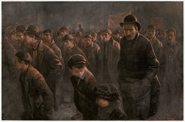 The March of the Unemployed: men and boys Date: 1912