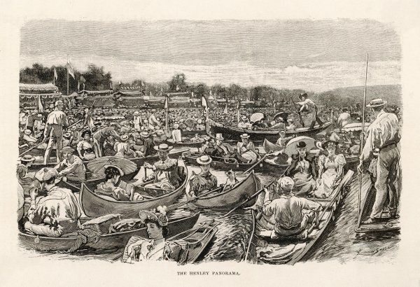 The crowded Thames at Henley on a Regatta day