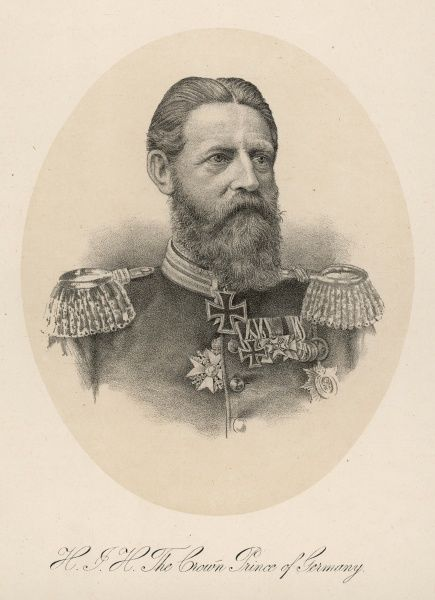 FRIEDRICH WILHELM The future Friedrich III of Germany while still Crown Prince of Germany. Married to Princess Vicky of GB he died after ruling only 3 months