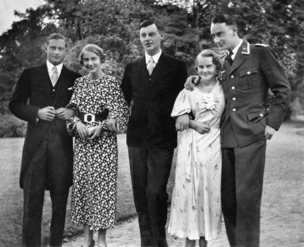 The Crown Prince of Prussia's children in the late 1930s: (l to r) Friedrich (1911-1966), Cecilie (1917-1975), Wilhelm (1906-1940), Alexandrine (1915-1980) and Louis Ferdinand (1907-1994)