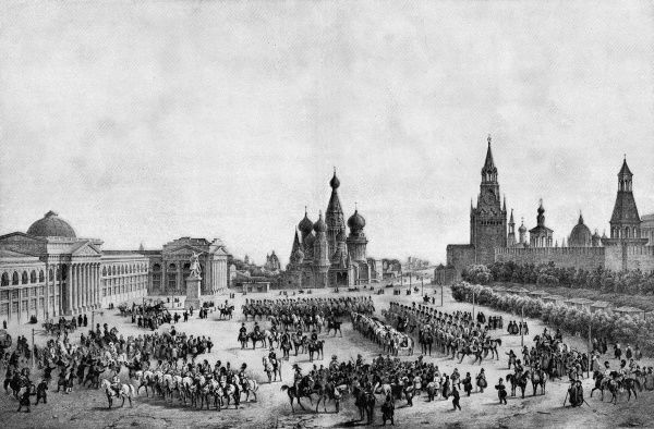NICOLAS I/TSAR SCENES & EVENTS Crowning of the Tzar in Moscow on 19 August 1826. Date: 1796 - 1855