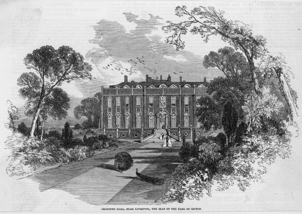 Croxteth Hall, near Liverpool, the seat of the earl of Sefton