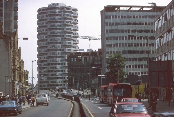 Modern office blocks, a familiar sight in the centre of Croydon, Surrey, England. Date: 1980