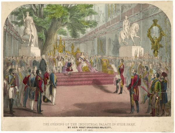 Victoria, Queen of England, opens the Great Exhibition