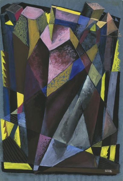 Cubist Experiment, abstract by Raymond Sheppard in the style of cubism
