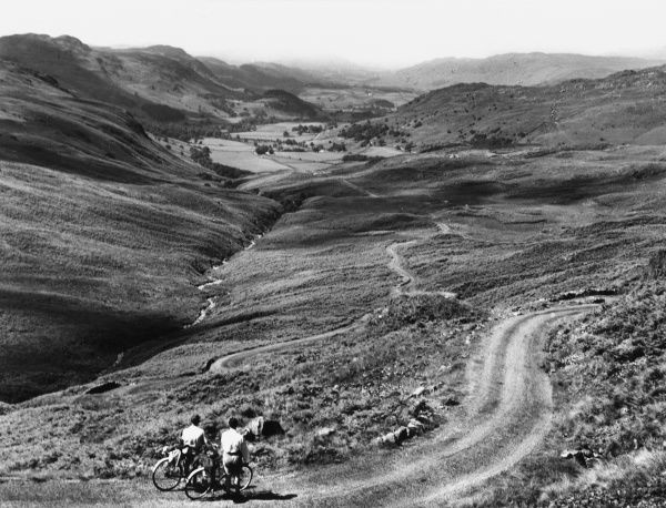 An impressive view of the Hard Knott Pass, looking towards Eskdale, Cumberland, England