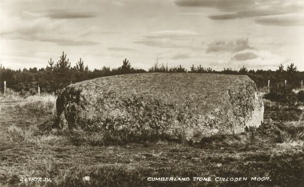 Cumberland Stone - Culloden Moor. Found on the eastern side of the battlefield and reputedly where the Duke of Cumberland watched the Redcoats defeat Bonnie Prince Charlie's Jacobite army at the Battle of Culloden in 1746
