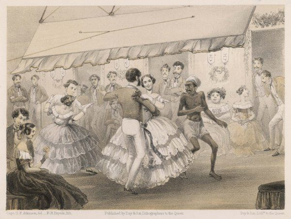 Dancing at an English station ball