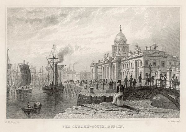 Dublin: the Custom House and river