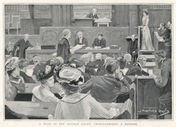 A trial in the Divorce Court, London : cross-examining a witness