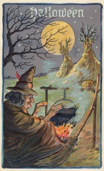 A Hallowe'en Witch works her magic