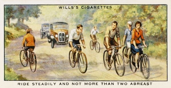 'Cycle not more than two abreast.&#39