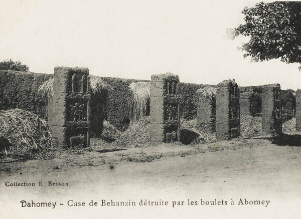 Dahomey (modern Benin) - The ruins of royal apartments at the King's Palace destroyed by cannonballs at Abomey