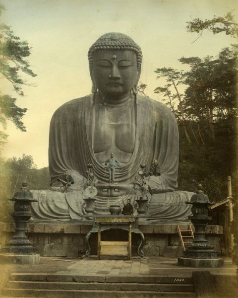 Great statue of Buddha Daibutsu at Kamakura in Japan