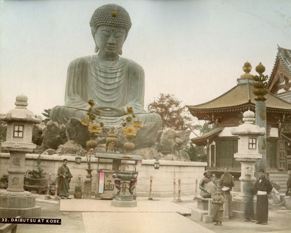 The great statue of Buddha (Daibutsu) at Kobe in Japan
