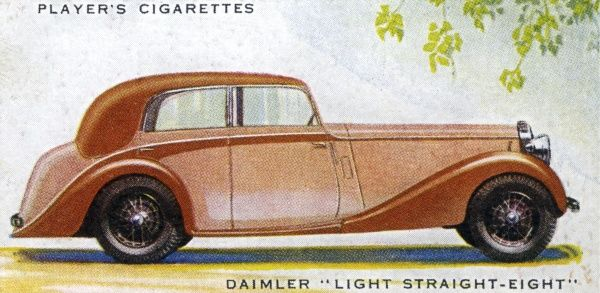 The Daimler Light Straight Eight will set you back all of L1200, but for your money you get the fastest Daimler yet produced, with aristocratic looks and comfort as well. Date: 1937