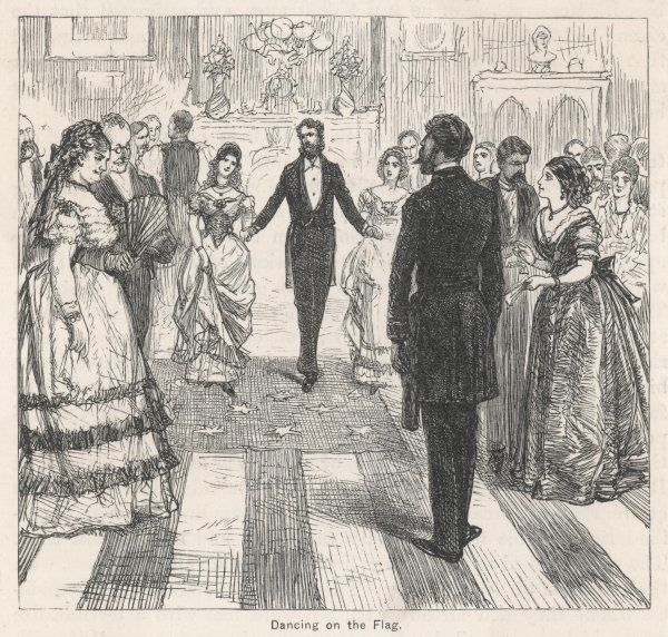 Southerners dance on the Union flag at a wedding where Bishop Polk officiated