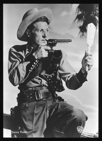 DANNY KAYE American entertainer of stage, screen and television, seen here dressed as a cowboy