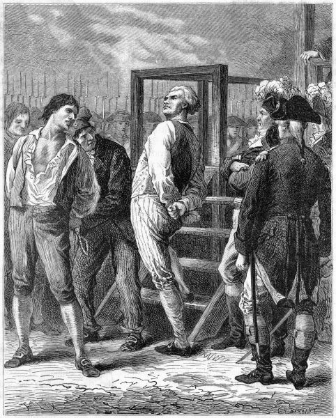 Danton, Philippeaux, Lacroix, Chabot and Camille Desmoulins are tried, condemned and guillotined by their political enemies