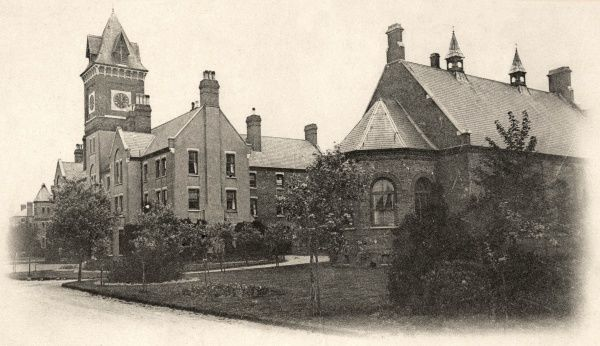 The Darenth Schools, near Dartford in Kent, were opened in 1878 by the Metropolitan Asylums Board as a residential institution for 'imbecile' children from London. The buildings were designed by A & C Harston