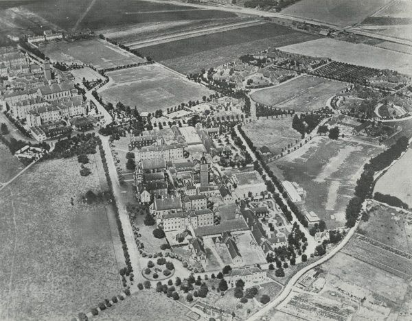 The Darenth Schools (top left), near Dartford in Kent, were opened in 1878 by the Metropolitan Asylums Board as a residential institution for 'imbecile' children from London