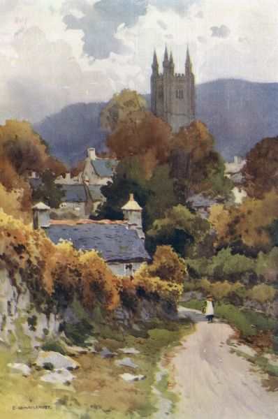 Widecombe on the Moor, Devon Date: circa 1910