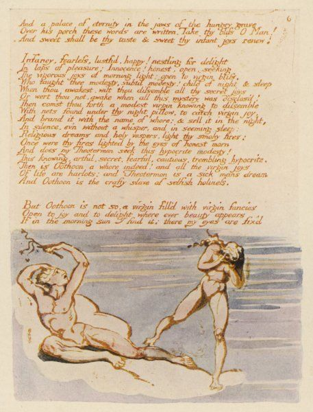 VISIONS OF THE DAUGHTERS OF ALBION A criticism of the sexual morals and organised religion of Blake's time