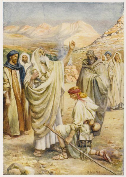The shepherd David is recognised by the prophet Samuel as the future king of Israel