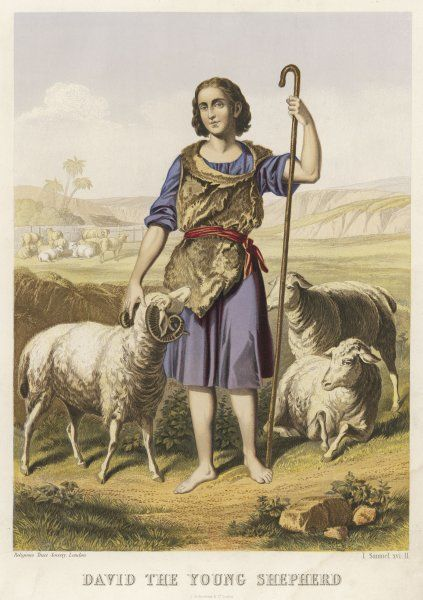 depicted as a shepherd