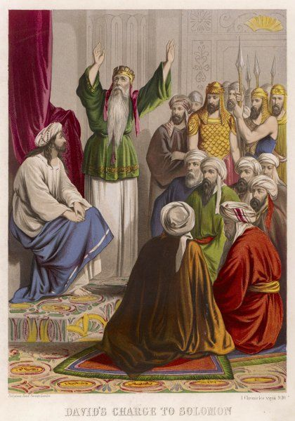 David chooses his younger son SOLOMON as his successor