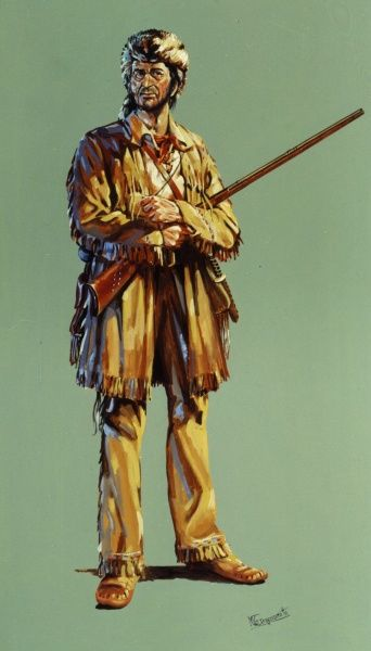 David Crockett (1786 - 1836) - celebrated 19th century American folk hero, frontiersman, soldier and politician; referred to in popular culture as Davy Crockett and often by the epithet 'King of the Wild Frontier