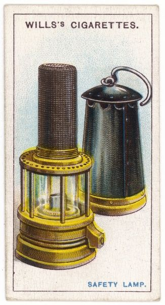 Sir Humphrey Davy's safety lamp, invented in 1815 for use in coal mines