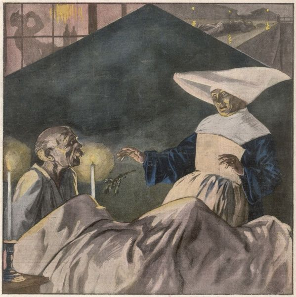 An old man is brought into Roubaix Hospital, appearing to be dead from cold. A nun tidies the supposed corpse when he comes back to life, to her astonishment