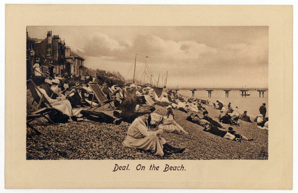 On the pebbly beach at Deal, Kent, some put up deckchairs, others put up with the pebbles