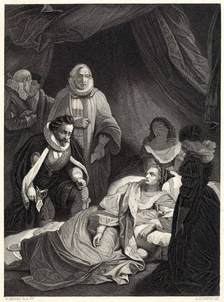 The death of Queen Elizabeth. She was buried at Westminster Abbey. Following her death, the house of Tudor was replaced by that of Stuart