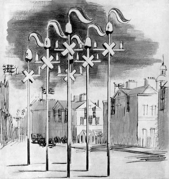 Each thoroughfare in Westminster was decorated in accordance with a theme