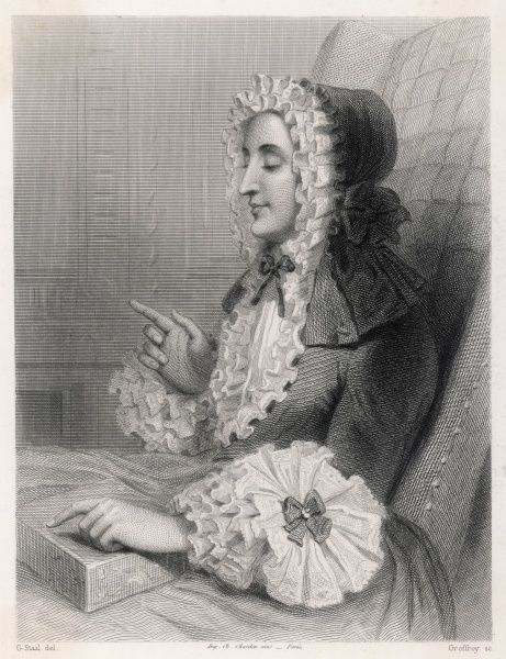 MARIE DE VICHY-CHAMROND MARQUISE DU DEFFAND French social leader, saloniste and friend of Voltaire, Walpole and D'Alembert