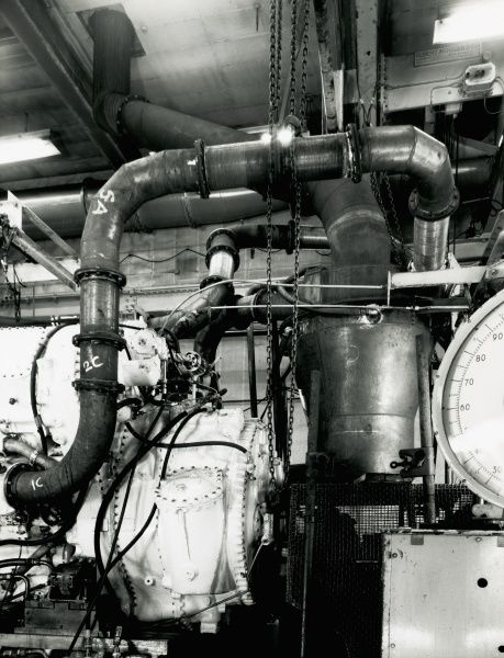 Deltic D18-62 engine, water washing unit at number 3 test house DTH Date: 1967