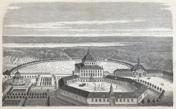 Fredensborg Palace as it looked in the time of Frederik IV (circa 1700)