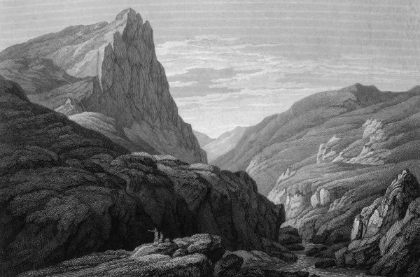 View of the Derbyshire Peak Date: circa 1850