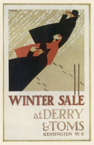 Poster for Derry & Toms department store, Kensington High Street, London